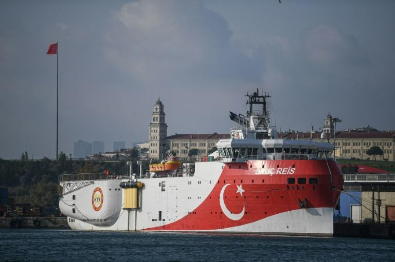 Turkey has dispatched a research vessel for exploration off a Greek island, heightening tensions over disputed maritime rights