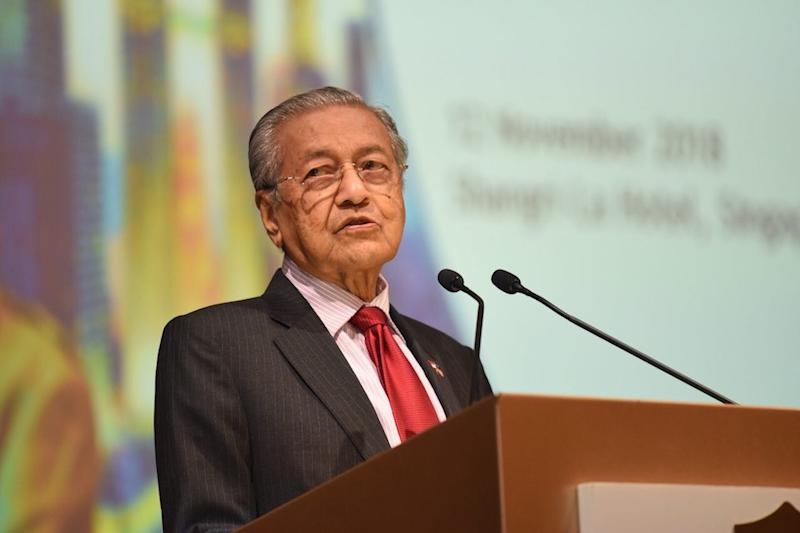 Dr Mahathir reiterated his PH administration's commitment not to meddle with the judiciary as the ruling coalition wanted the third branch of government to be truly 'free'. — Picture courtesy of Information Department Malaysia
