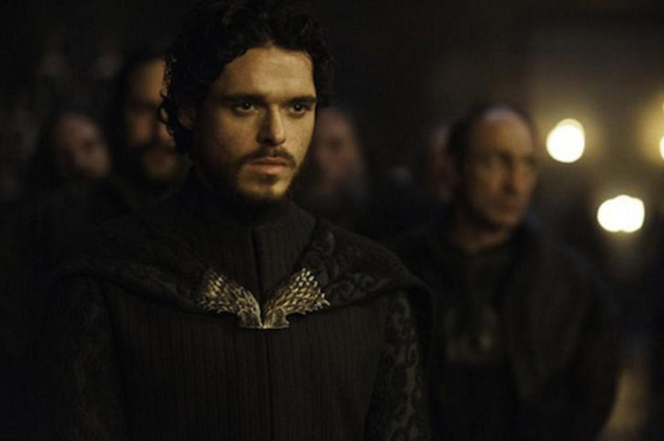"""<p>The night HBO aired <a href=""""https://www.youtube.com/watch?v=ZnxvUuSzbMI"""" rel=""""nofollow noopener"""" target=""""_blank"""" data-ylk=""""slk:the infamous &quot;Red Wedding&quot; episode"""" class=""""link rapid-noclick-resp"""">the infamous """"Red Wedding"""" episode</a> of <em>Game of Thrones</em>—killing off what seemed like half the characters—Twitter almost broke with all the upset tweets. It's bad enough they killed Robb Stark (Richard Madden), his pregnant wife, and his mother, but they had to kill the wolf too?</p> <p><a href=""""https://www.hbomax.com/series/urn:hbo:series:GVU2cggagzYNJjhsJATwo"""" rel=""""nofollow noopener"""" target=""""_blank"""" data-ylk=""""slk:Streaming available on HBO Max"""" class=""""link rapid-noclick-resp""""><em>Streaming available on HBO Max</em></a></p>"""
