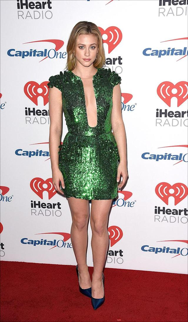 Lili Reinhart attends the 2017 iHeartRadio Music Festival in Las Vegas on Saturday. (Photo by C Flanigan/FilmMagic)