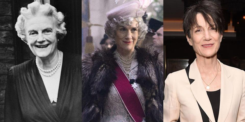 "<p>Prolific British actress Harriet Walter (<em>Sense and Sensibility</em>, <em>Atonement</em>, <em>Downton Abbey</em>, <em>The Spanish Princess</em>) played Winston Churchill's beloved wife Clementine (""Clemmie"") in Season 1 of <em>The Crown</em><em>.</em></p>"