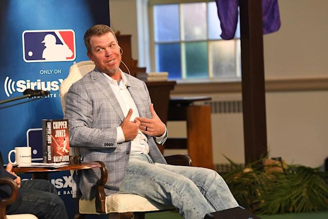Chipper Jones is one of 19 newcomers on the 2018 Baseball Hall of Fame ballot. (Getty Images)