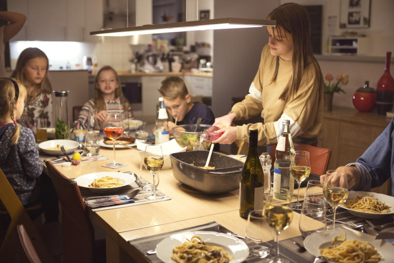 But some families have enjoyed eating together more in lockdown. (Getty Images)