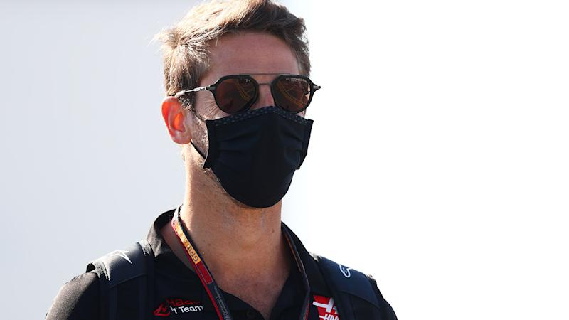 Romain Grosjean, pictured here before the British Grand Prix.