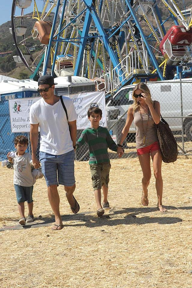 """Stars like LeAnn Rimes and her hubby Eddie Cibrian came out in full force over the long weekend to check out the 30th Annual Malibu Kiwanis Chili Cook-Off, Carnival, and Fair. How cute are Eddie's sons Mason and Jake? Anthony Monterotti/<a href=""""http://www.PacificCoastNews.com"""" target=""""new"""">PacificCoastNews.com</a> - September 4, 2011"""