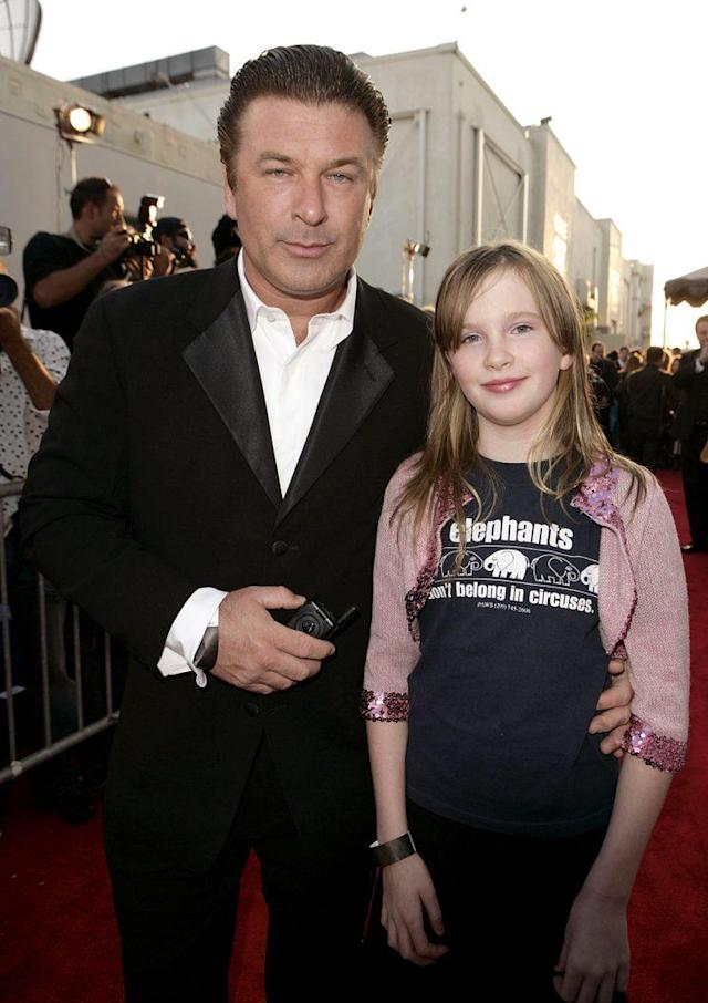 Alec Baldwin and daughter Ireland at the 25th Anniversary Gala for PETA and Humanitarian Awards in 2005. (Photo: Todd Williamson/FilmMagic)