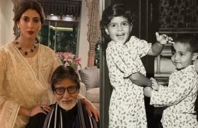 Amitabh Bachchan shares an adorable throwback pic of Abhishek and Shweta twinning as toddlers