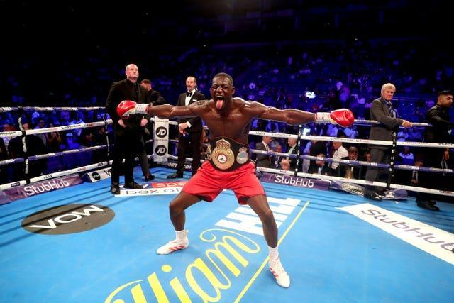 One fighter not on Okolie's radar at present is Richard Riakporhe, pictured (Bradley Collyer/PA)