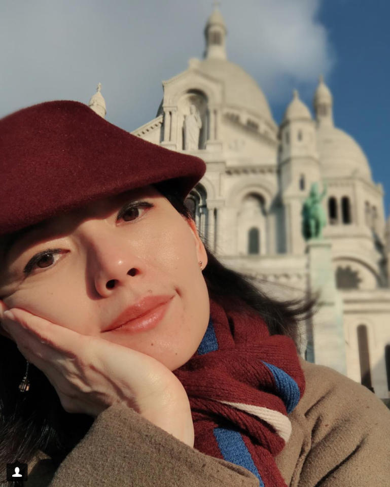 <p>Local actress Sharon Au hasn't left Paris since fashion week in September and it looks like Au is set to stay in the city of love till 2018. (Photo: Sharon Au/ Instagram) </p>