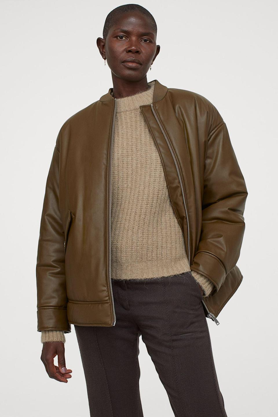 <p>This <span>Bomber Jacket<br> </span> ($46, originally $80) will make you feel in charge.</p>
