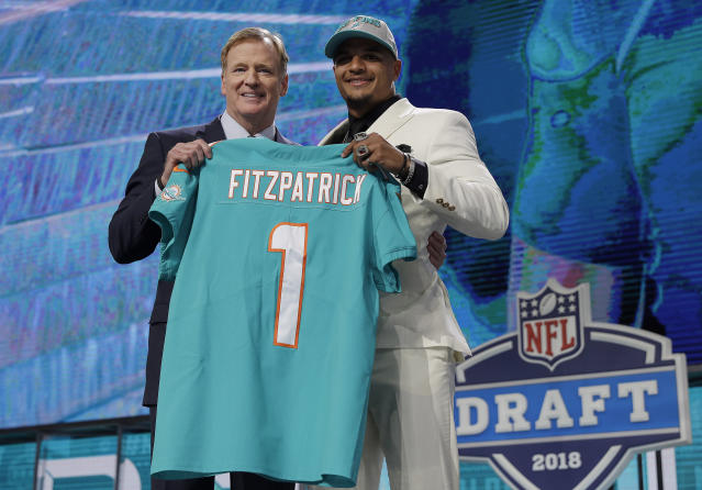 Minkah Fitzpatrick lasted 18 games with the Dolphins before he got dealt to the Steelers. (AP)