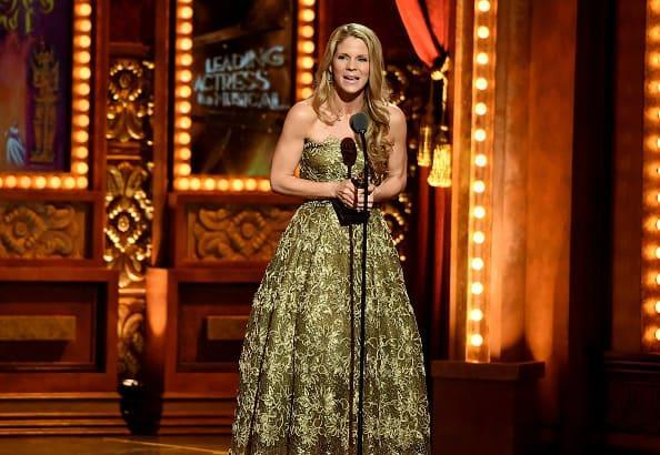 """<div class=""""inline-image__caption""""><p>Kelli O'Hara accepts the award for Best Performance by an Actress in a Leading Role in a Musical for <em>The King and I</em> at the Tony Awards on June 7, 2015, in New York City.</p></div> <div class=""""inline-image__credit"""">Theo Wargo/Getty Images for Tony Awards Productions</div>"""