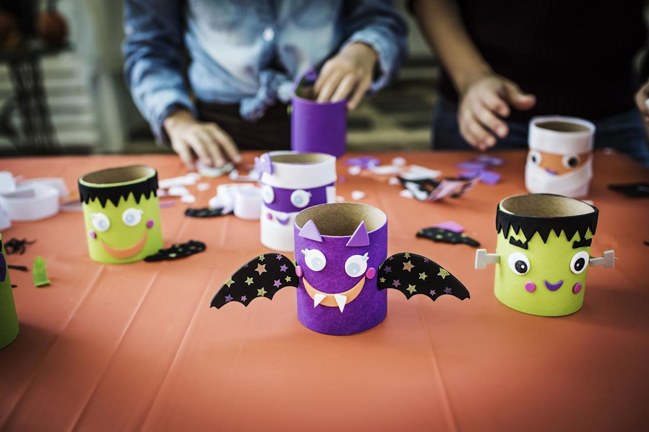 """<p>It's never too early to show your little ones around your craft room, and with these adorable Halloween crafts for toddlers, they can actually get in on the fun too.  Every one of these <a href=""""https://www.countryliving.com/diy-crafts/g1189/best-halloween-crafts-ever/"""">projects</a> is designed for preschoolers and younger, so they'll love getting involved in these hands-on crafts (though you'll need to offer a little assistance). This roundup features <a href=""""https://www.countryliving.com/diy-crafts/g4950/easy-halloween-crafts-for-kids/"""">kid-friendly crafts</a> to make witches, ghosts, <a href=""""https://www.countryliving.com/diy-crafts/g1350/pumpkin-decorating-1009/"""">pumpkins</a>, and other fun <a href=""""https://www.countryliving.com/diy-crafts/g1360/halloween-costumes-for-kids/"""">Halloween</a> creatures. Your <a href=""""https://www.countryliving.com/diy-crafts/g4975/toddler-halloween-costume-ideas/"""">toddler</a> will have an absolute blast making these creations, whether they decide to make a paper plate pumpkin, a coffee filter ghost, or get busy with a Halloween sensory box. They'll love seeing their crafts displayed alongside your other fall decor throughout the house. Plus, little ones will also get to practice using pencils, paint brushes, and markers, which will come in handy for preschool.  Although they'll definitely be having the majority of the fun, it will also be so exciting for you to watch their creative little minds run wild. Of course, these tutorials will yield cute creations, but they'll also make memories you'll cherish forever. Pop on a <a href=""""https://www.countryliving.com/life/g21098784/kids-halloween-movies-on-netflix/"""">kid-friendly Halloween movie</a>, gather the supplies for the craft at hand, and get ready for some seriously cute Halloween crafts.<br></p>"""