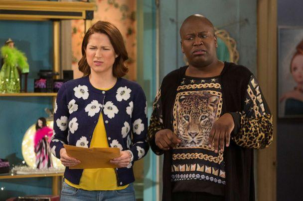 PHOTO: In this scene from the tv show UNBREAKABLE KIMMY SCHMIDT, Ellie Kemper and Tituss Burgess are shown. (Universal Television/NBCU Photo Bank/NBCUniversal via Getty Images)