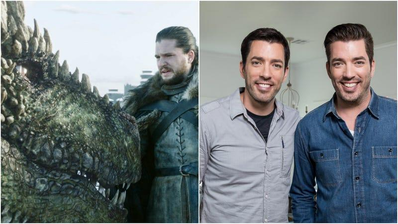 What, no one thought to just put stills from Game Of Thrones (Photo: HBO) and Property Brothers (Photo: HGTV) side by side?