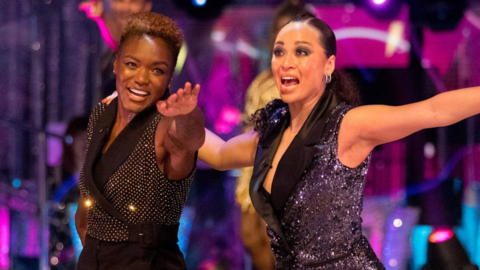 Nicola Adams and Katya Jones during the launch show of Strictly