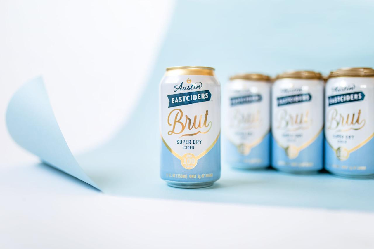 <p>One can of Austin Eastciders Brut Super Dry Cider is 12 fluid ounces and has 4.2 percent alcohol by volume. The nutrition label reads:</p> <p><strong>Calories:</strong> 100<br> <strong>Total Fat:</strong> 0 grams<br> <strong>Total Carbohydrates:</strong> 4 grams<br> <strong>Total Sugars:</strong> 2 grams (includes 2 grams of added sugar)<br> <strong>Protein:</strong> 0 grams</p> <p>Compare that to one 12-ounce can of Austin Eastciders Ruby Red Grapefruit Cider, which has five percent alcohol by volume, 160 calories, and 13 grams of sugar (including nine grams of added sugar).</p>