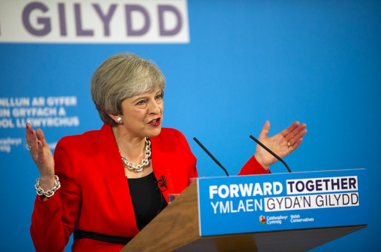 The lady is for turning... Theresa May has changed her mind again (Picture: Rex)