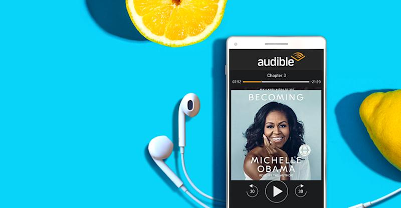 Bestsellers at your fingertips with Audible. (Photo: Amazon)