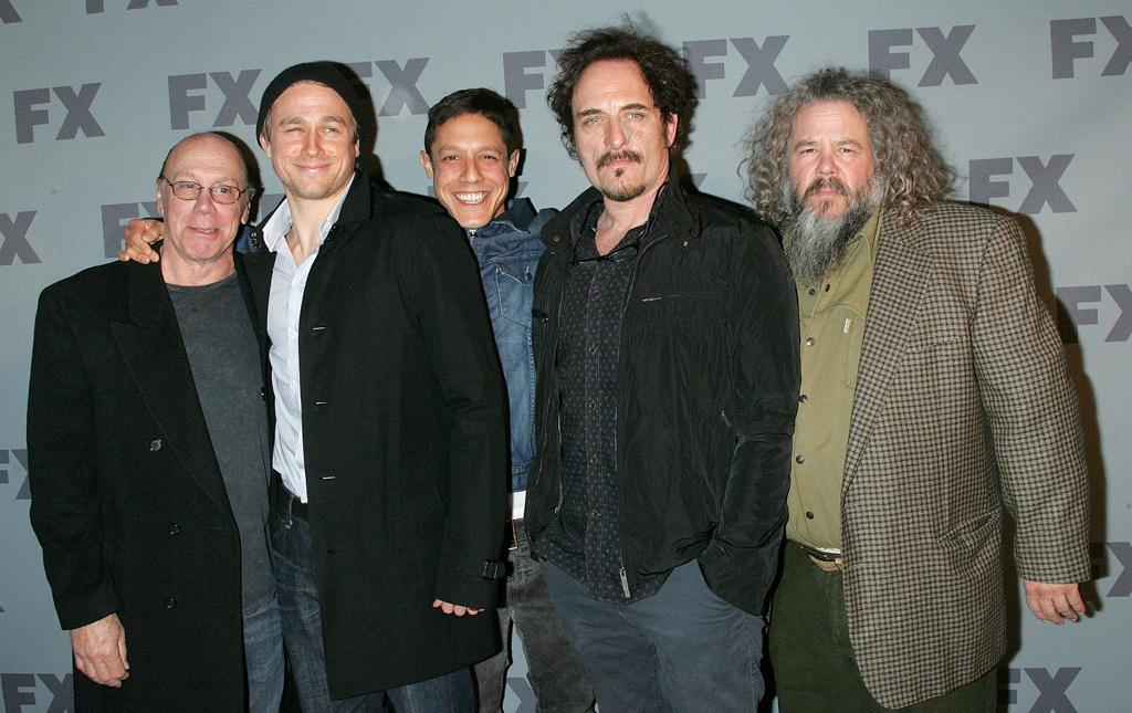 """The cast of """"<a href=""""http://tv.yahoo.com/sons-of-anarchy/show/40546"""">Sons of Anarchy</a>"""" attend FX's 2012 Upfronts at Lucky Strike on March 29, 2012 in New York City."""