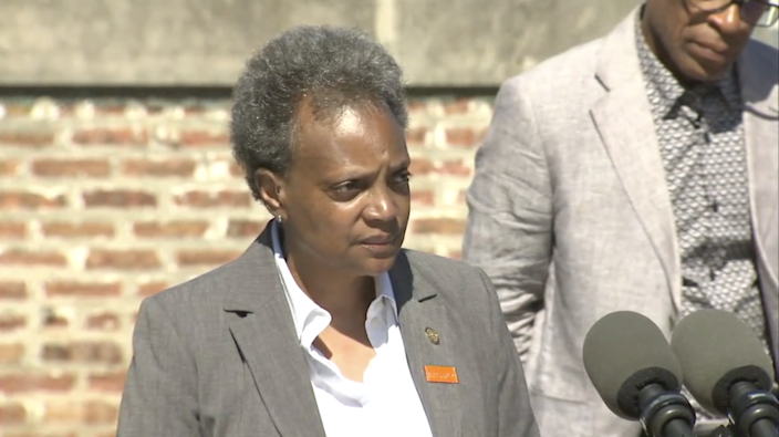 Lori Lightfoot appealed for federal help after the shooting (ABC News 7)