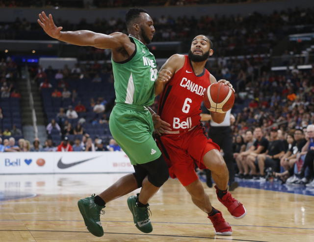 Canada's Cory Joseph is expected to rejoin the team after missing Wednesday's practice ahead of a series of pre-tournament games. (THE CANADIAN PRESS/John Woods)