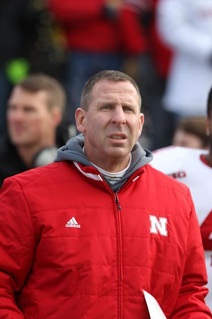 Nov 28, 2014; Iowa City, IA, USA; Nebraska Cornhuskers head coach Bo Pelini looks on during their game against the Iowa Hawkeyes at Kinnick Stadium. (Reese Strickland-USA TODAY Sports)