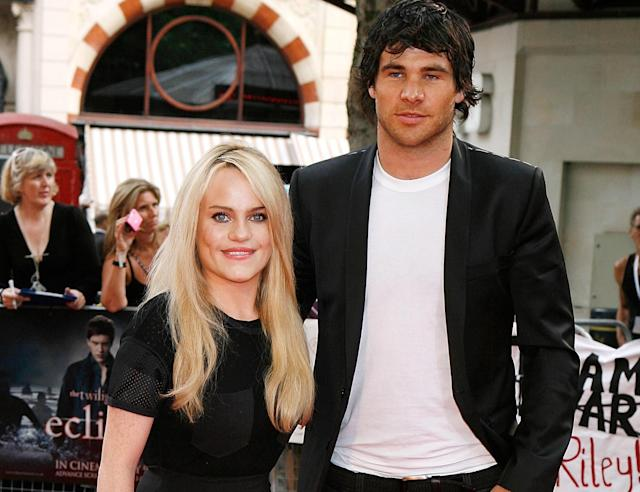 Duffy and boyfriend Mike Phillips attend the 'Twilight Saga Eclipse' premiere in London in 2010 (PA)