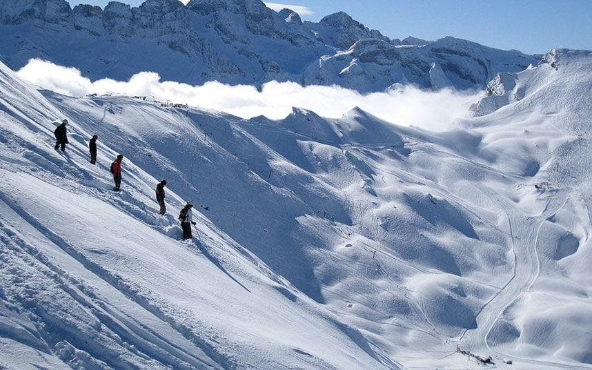 A week of lessons in a small group helps skiers focus the mind on improving skills - Copyright Niall Corbet 2009