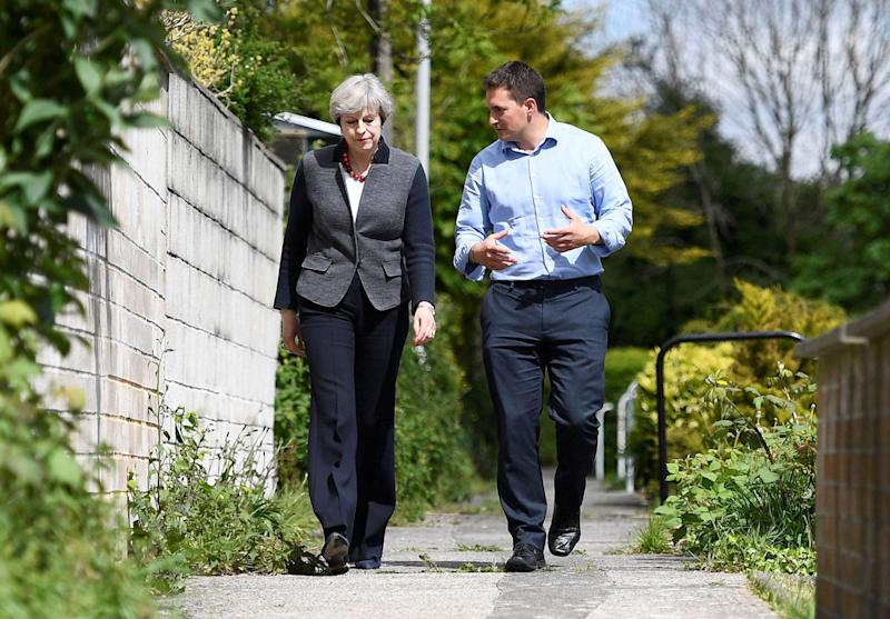 <strong>Tory MP Johnny Mercer campaigning with Prime Minister Theresa May</strong> (Photo: PA Archive/PA Images)