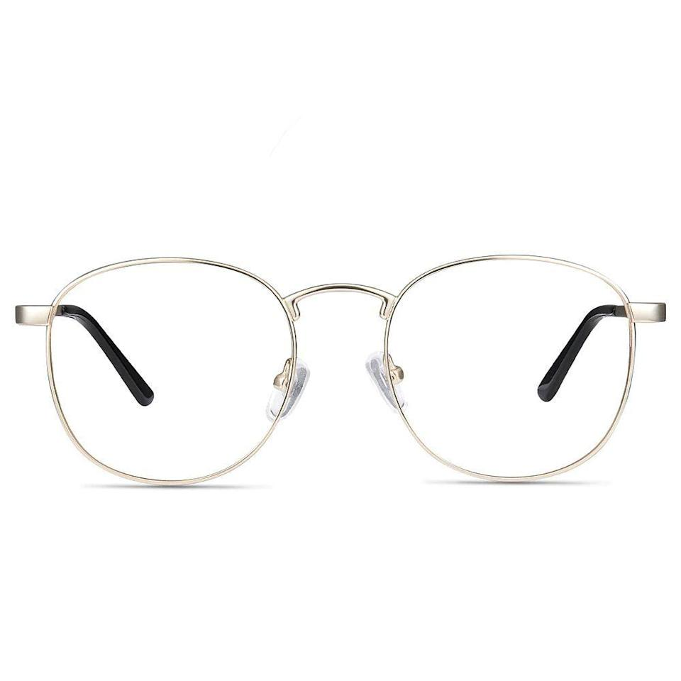 """<p><strong>EyeBuyDirect</strong></p><p>eyebuydirect.com</p><p><strong>$32.00</strong></p><p><a href=""""https://go.redirectingat.com?id=74968X1596630&url=https%3A%2F%2Fwww.eyebuydirect.com%2Feyeglasses%2Fframes%2Fst-michel-golden-s-19638&sref=https%3A%2F%2Fwww.bestproducts.com%2Fmens-style%2Fg33594937%2Fstylish-glasses-frames-for-men%2F"""" rel=""""nofollow noopener"""" target=""""_blank"""" data-ylk=""""slk:Shop Now"""" class=""""link rapid-noclick-resp"""">Shop Now</a></p><p>For a pair of comfortable reading glasses that you will actually <em>want</em> to put on, these matte gold frames are an easy option. The neat design of these full-rim single-vision eyeglasses is classic and simple for when you just need to see something a <em>little</em> clearer.</p>"""