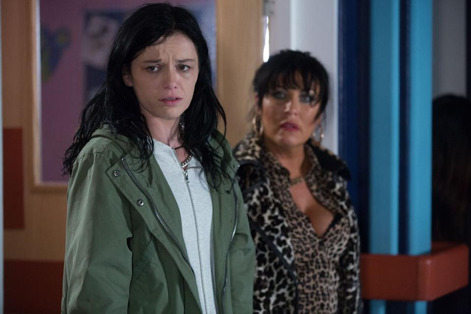 Katie Jarvis as Hayley Slater in EastEnders (Credit: BBC)