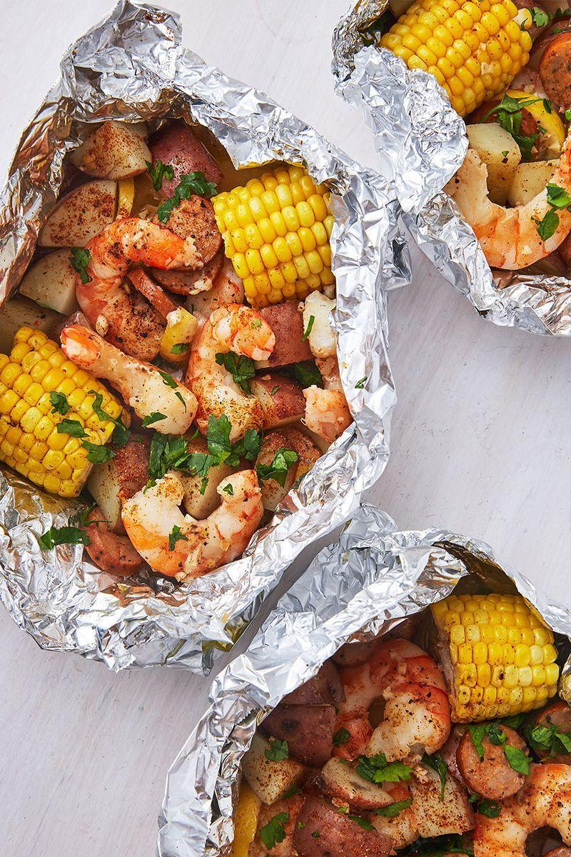 """<p>Yes, yes and YES. We couldn't think of a more easy and delicious <a href=""""https://www.delish.com/uk/cooking/recipes/a31952820/prawn-salad/"""" rel=""""nofollow noopener"""" target=""""_blank"""" data-ylk=""""slk:prawn"""" class=""""link rapid-noclick-resp"""">prawn</a> recipe. You can literally make this for dinner in just 25 minutes. </p><p>Get the <a href=""""https://www.delish.com/uk/cooking/recipes/a32298725/grilled-shrimp-foil-packets-recipe/"""" rel=""""nofollow noopener"""" target=""""_blank"""" data-ylk=""""slk:Grilled Prawn Foil Packs"""" class=""""link rapid-noclick-resp"""">Grilled Prawn Foil Packs</a> recipe.</p>"""