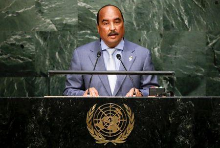President Mohamed Ould Abdel Aziz of Mauritania addresses a plenary meeting of the United Nations Sustainable Development Summit 2015 at the United Nations headquarters in Manhattan, New York