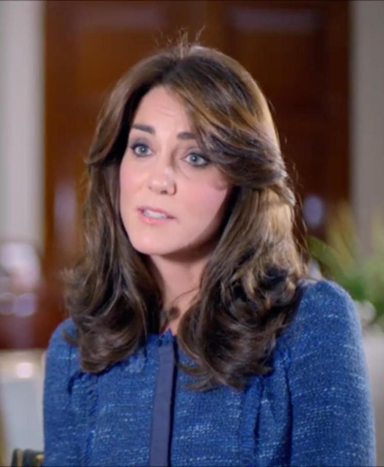 "<p>Kate put on the blue tweed again in interviews for the ITV documentary Our Queen at Ninety, when she revealed that George calls the queen ""gan gan."" </p>"