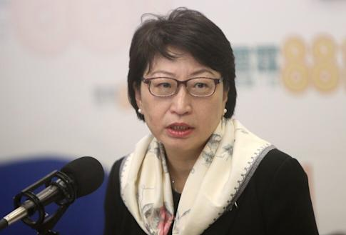 Secretary for Justice Teresa Cheng Yeuk-wah during a Commercial Radio programme in Kowloon Tong on 21 January 2018. Photo: Winson Wong