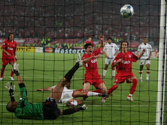 Alonso scored the rebound after Dida saved his initial penalty (Getty)