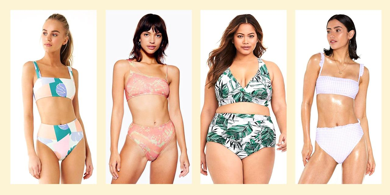 "<p>Say hello to the most timeless swimwear silhouette: the high-waisted swimsuit! High-waisted two-pieces are comfy and effortlessly cool. Rock this suit if you want to <a href=""https://www.seventeen.com/celebrity/music/g27423407/summer-songs/"" target=""_blank"">play around by the pool </a>or lay out on the beach without your butt crack accidentally making it into all of your bestie's Instagrams. High-waisted swimsuits are great if you're on your <a href=""https://www.seventeen.com/health/sex-health/a30094/period-myths/"" target=""_blank"">period</a> at the beach and want to feel a little more covered up while still slaying the sand in your go-to tankini. And you'll see all your fave <a href=""https://www.seventeen.com/fashion/celeb-fashion/g489/swimsuit-inspiration/"" target=""_blank"">celebs rocking this suit style</a> (<a href=""https://www.seventeen.com/fashion/celeb-fashion/g26595049/rihanna-outfits/"" target=""_blank"">Rihanna</a> and <a href=""https://www.seventeen.com/fashion/g27285156/alexa-chung-style-inspo/"" target=""_blank"">Alexa Chung</a> are known for some super cute high-waisted swimwear looks). Shopping and inspo ahead, fam!</p>"