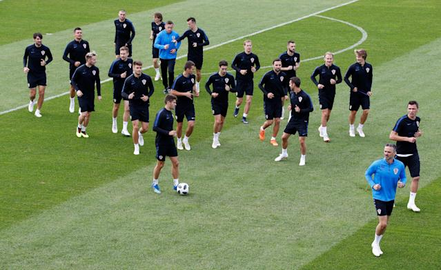 Soccer Football - World Cup - Croatia Training - Croatia Training Camp, Roschino, Russia - June 23, 2018 Croatia players during training REUTERS/Anton Vaganov