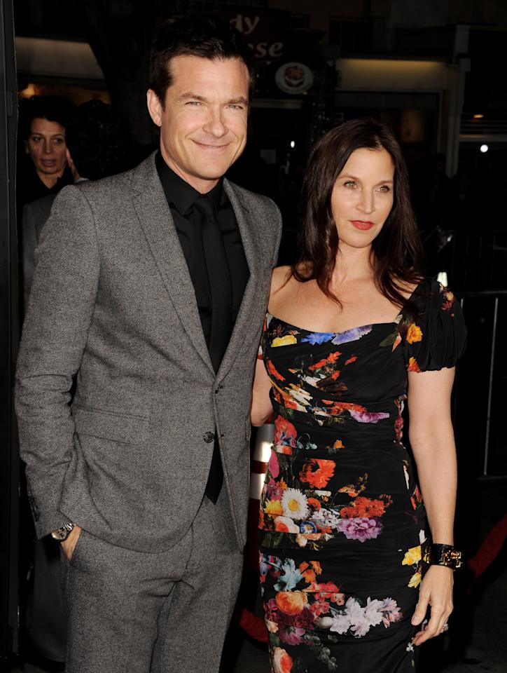 "LOS ANGELES, CA - FEBRUARY 04:  Actor Jason Bateman (L) and his wife Amanda Anka arrive at the premiere of Universal Pictures' ""Identity Theft"" at the Village Theatre on February 4, 2013 in Los Angeles, California.  (Photo by Kevin Winter/Getty Images)"