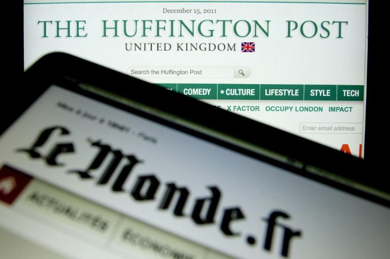 Les sites internet du journal Le Monde et du Huffington Post