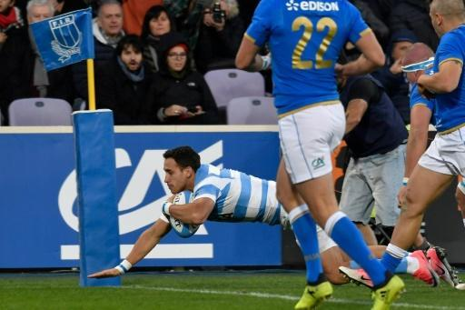 <p>Argentina score three ties to continue mastery over Italy</p>