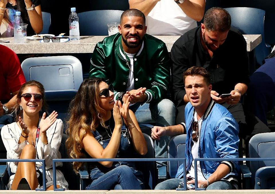 Rapper Drake attends the US Open women's singles semifinals match between Roberta Vinci and Serena Williams on September 11, 2015 (AFP Photo/Clive Brunskill)