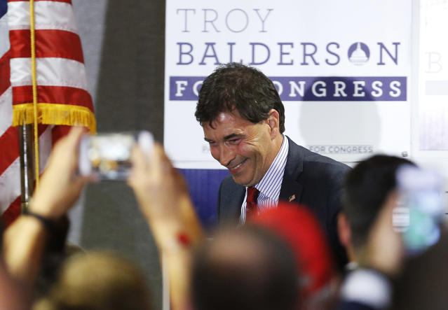 Troy Balderson, Republican candidate for Ohio's 12th Congressional District. (Photo: Jay LaPrete/AP)