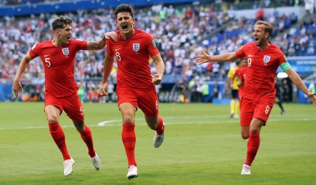 Harry Maguire had success in an England back three at the 2018 World Cup