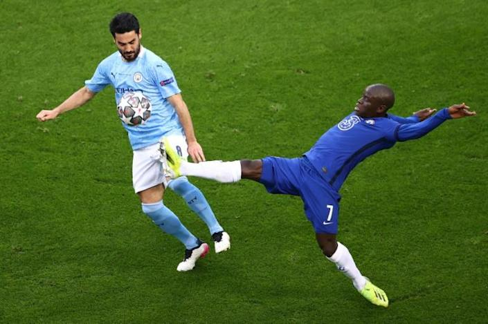 N'Golo Kante was the man of the match for his tireless work in midfield