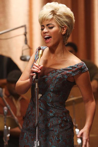 "FILE - In this publicity file photo released by Sony TriStar Pictures, Beyonce Knowles portrays Etta James in a scene from the film, ""Cadillac Records."" (AP Photo/Sony TriStar, Eric Liebowitz, File) ** NO SALES **"