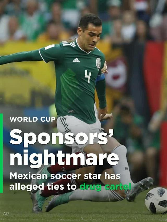 As the spotlight shines on Mexico in the run-up to its Saturday match with South Korea, so does it focus on team captain Rafael Márquez, who is wreaking havoc for sponsors thanks to his being blacklisted by the U.S. Treasury department for alleged ties to money laundering for a Mexican drug cartel.