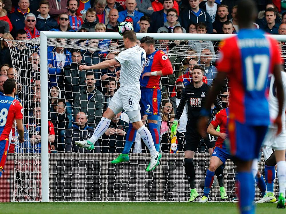 Robert Huth heads home Leicester's first goal (Getty)