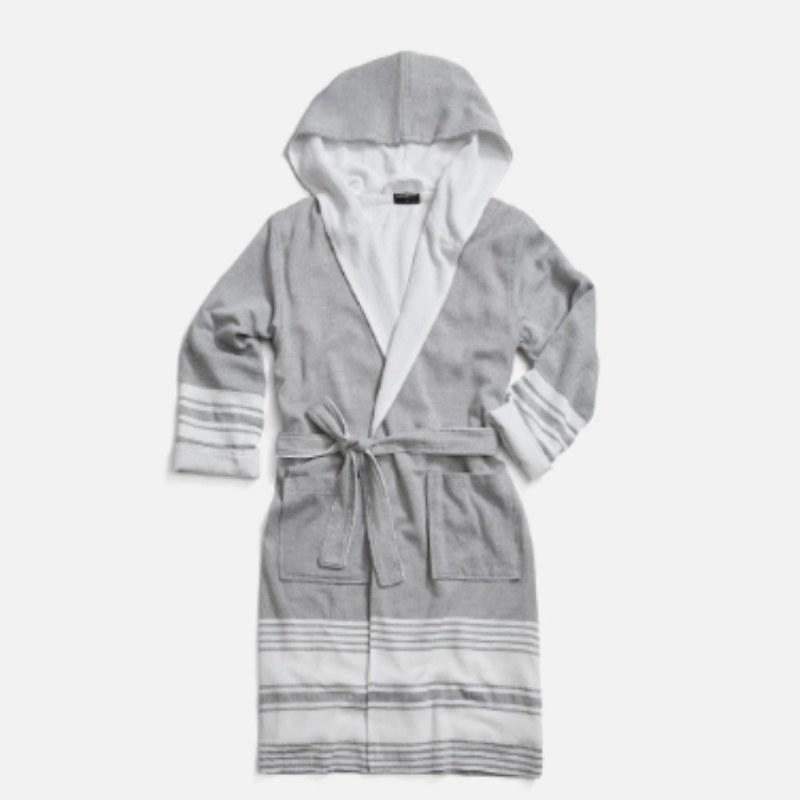 """<p>Turkish-style towels are so cool to look at, but if you're like most hard-working <em>Allure</em> editors, you don't want to sacrifice the cozy fluff of terrycloth. <a href=""""https://www.brooklinen.com/products/hammam-robe?variant=17248018235482&gclid=CjwKCAjwxaXtBRBbEiwAPqPxcEPh19oMa0u43x3BApPsT4RCT2aq1MTraxKqTqPK0Bhvw2Qx6eD84BoCou0QAvD_BwE"""" rel=""""nofollow"""">Brooklinen's Hamaam line</a> of robes and bath towels feature classic Turkish spa designs on the outside but are lined in super-absorbent, comfy terry.</p> <p><em>Sizes Available: Small to Medium</em></p> <p><strong>$98</strong> (<a href=""""https://www.brooklinen.com/products/hammam-robe?variant=17248018235482&gclid=CjwKCAjwxaXtBRBbEiwAPqPxcEPh19oMa0u43x3BApPsT4RCT2aq1MTraxKqTqPK0Bhvw2Qx6eD84BoCou0QAvD_BwE"""" rel=""""nofollow"""">Shop Now</a>)</p>"""